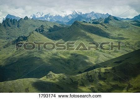 Stock Photo of Andes mountain range, Peru 1793174.