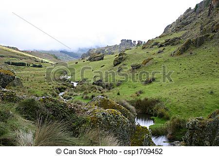 Stock Photo of Foggy Highlands.