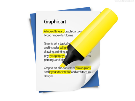 Highlighting clipart.