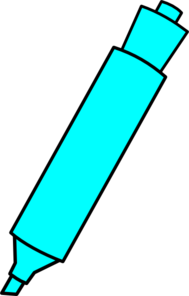Blue Highlighter Marker Clip Art at Clker.com.
