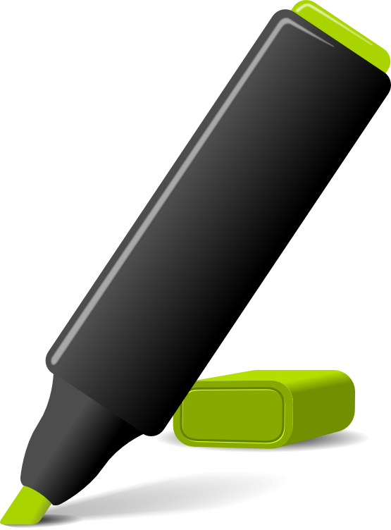 Free to Use & Public Domain Highlighter Clip Art.