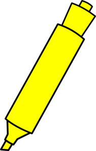 Yellow Highlighter Marker Clip Art at Clker.com.