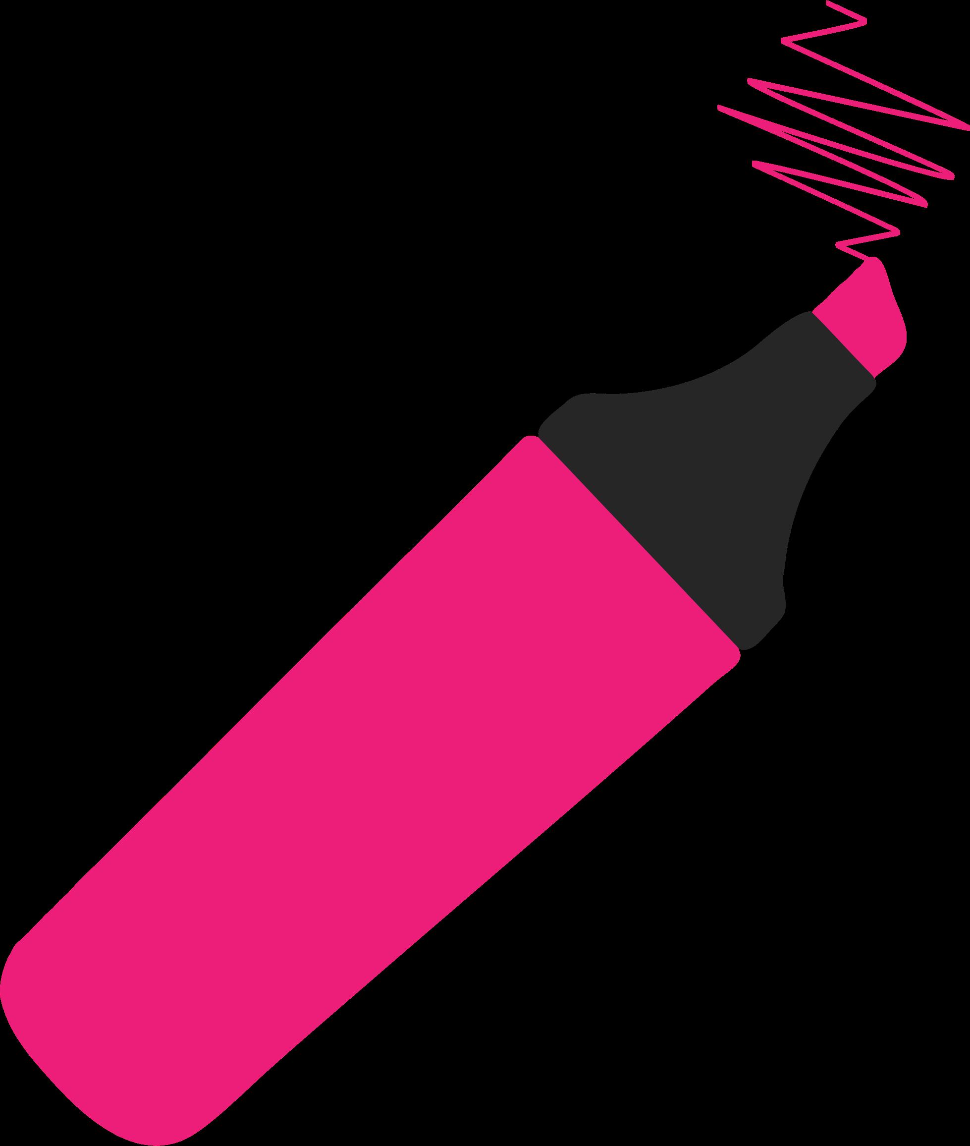 Highlighter pen clipart.