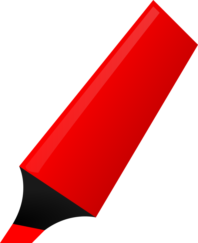Free Clipart: Red Highlighter.