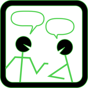 Chat People With Green Highlights Clip Art at Clker.com.