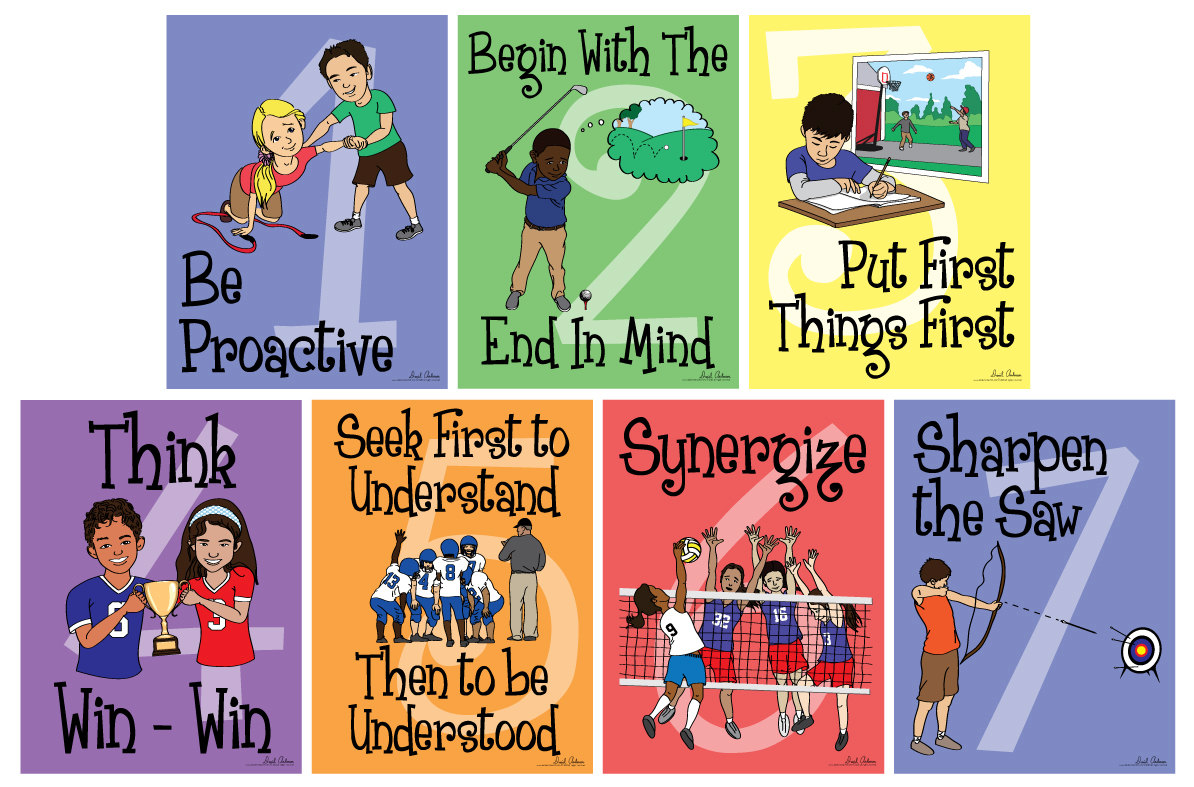 7 habits of highly effective people clipart.