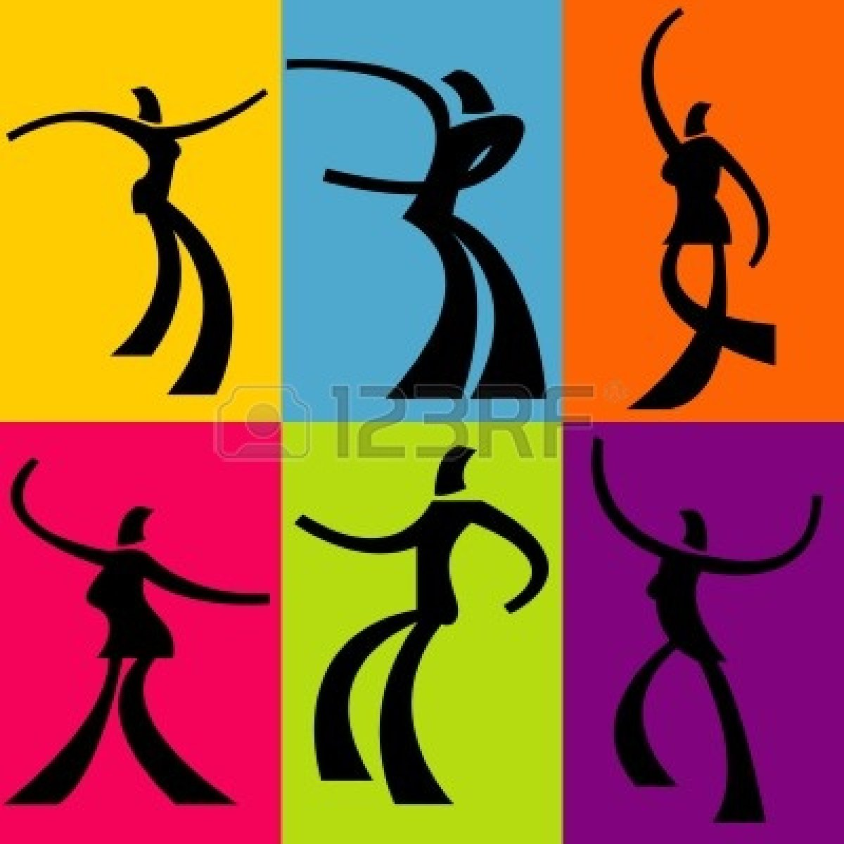 highly stylized.. clipart.