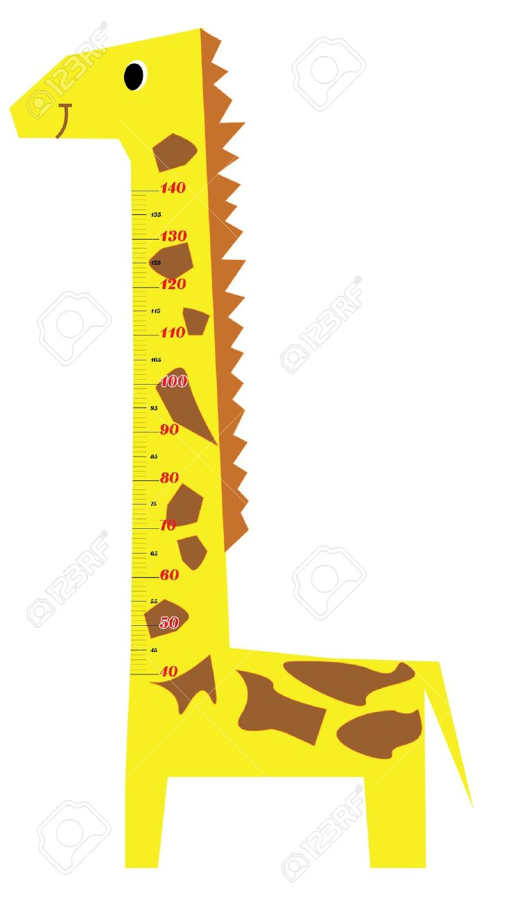Height and weight scale clipart kids.