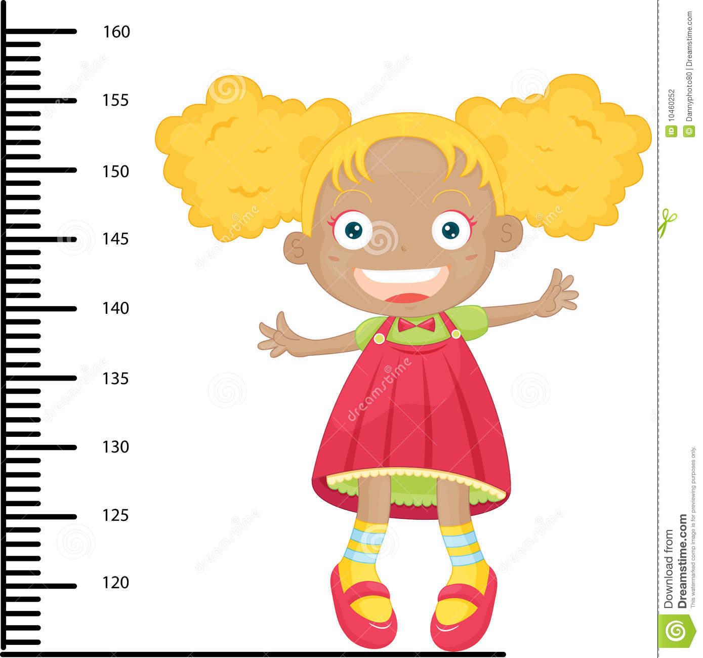 Girl height clipart.