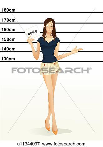 Stock Illustration of long, weight, leg, miniskirt, body weight.