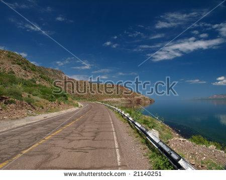 Baja California Desert Road Stock Photos, Royalty.
