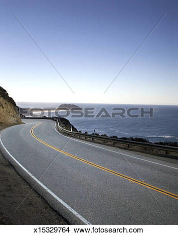 Stock Photo of Pacific Coast Highway, Highway 1. x15329764.