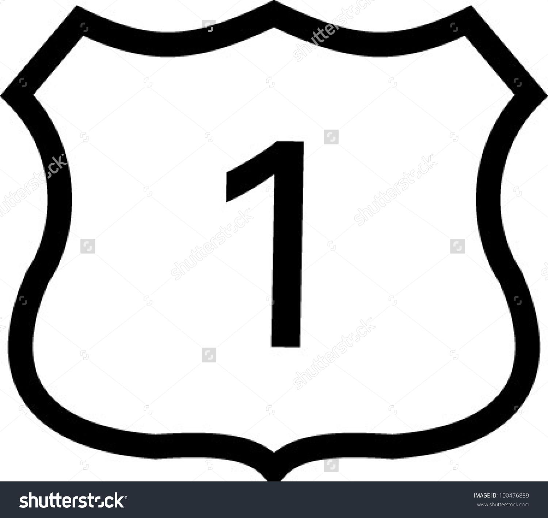 Us 1 Highway Sign Stock Vector 100476889.