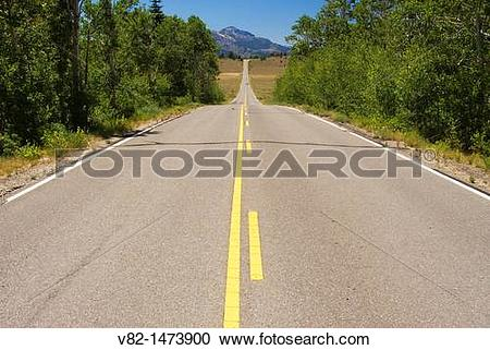 Stock Photography of CA Highway 89 near Monitor Pass, Toiyabe.