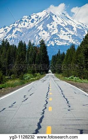 Stock Photo of Mount Shasta, California.