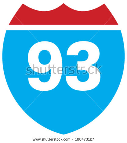 Highway 93 Stock Images, Royalty.
