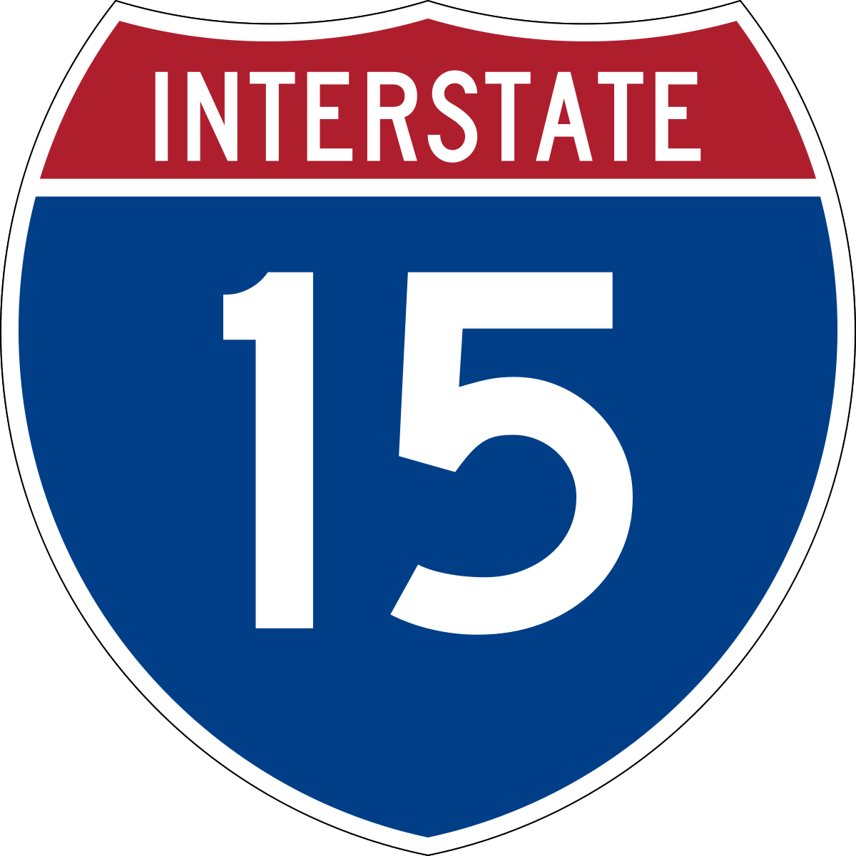 Interstate 15.