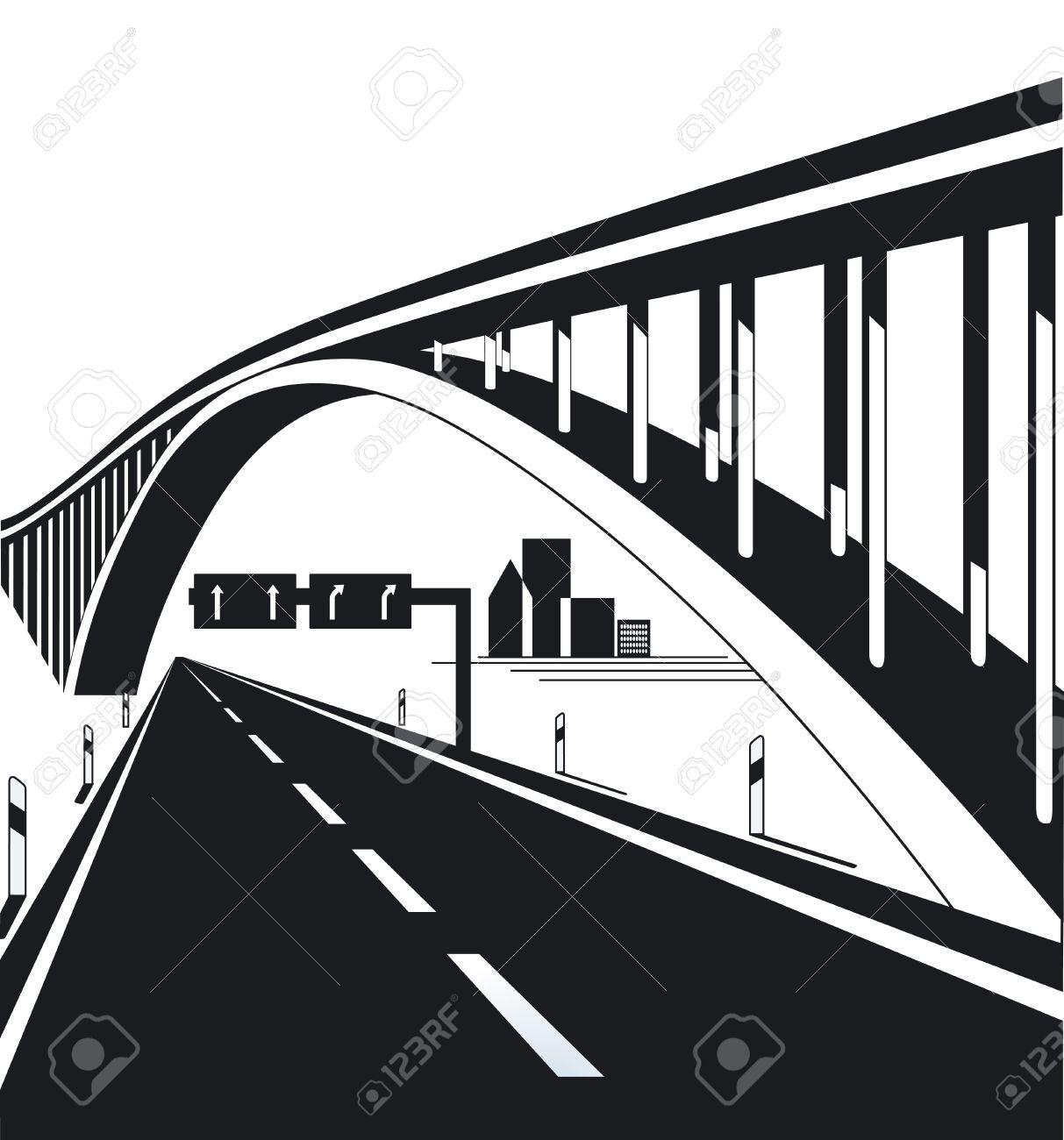 Highway Bridge Royalty Free Cliparts, Vectors, And Stock.