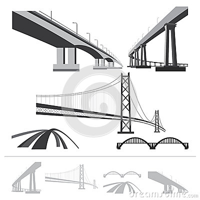 Bridges Set Stock Vector.
