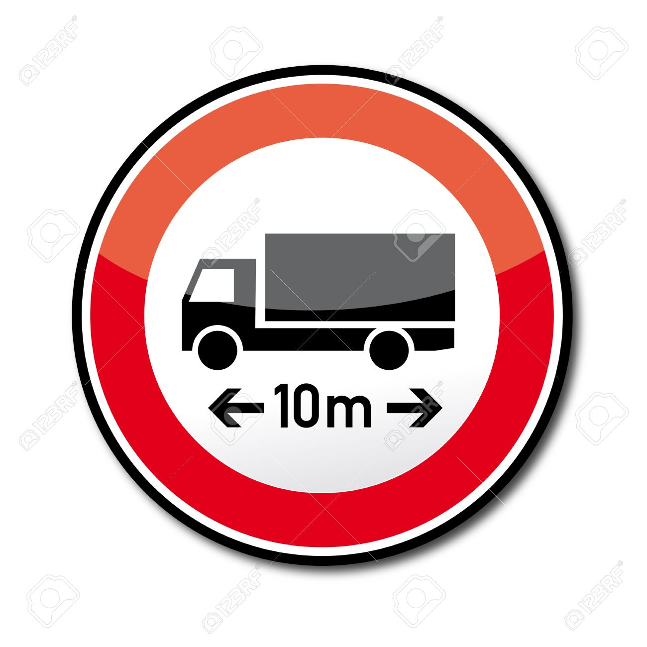 Road Sign Ban On Cars And Trains Over The Specified Length.