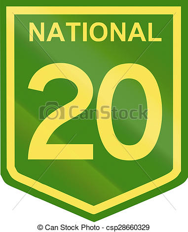 Clip Art of Australian National Highway Number 20.