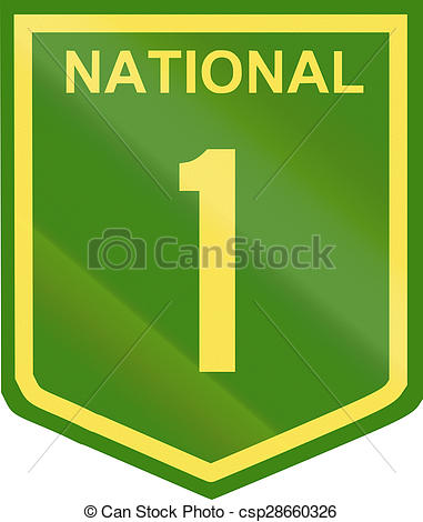 Clip Art of Australian National Highway Number 1.