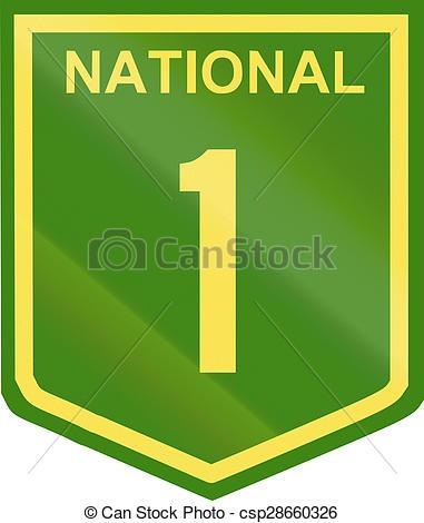 Clip Art of Australian National Highway Number 1.
