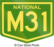 Australian national highway number m31 Illustrations and Clip Art.