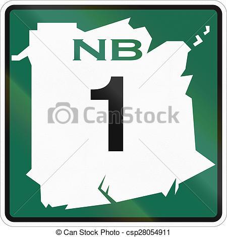 Clipart of New Brunswick Highway Marker 1.