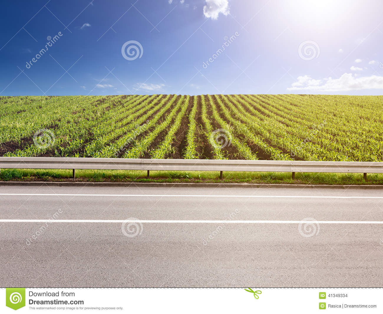 Side view road clipart.