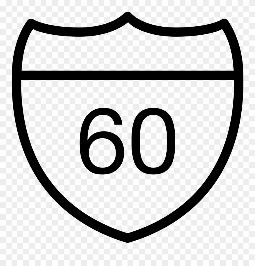 Highway Sign Icon.