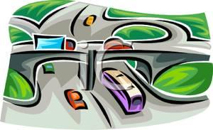 Highways clipart.