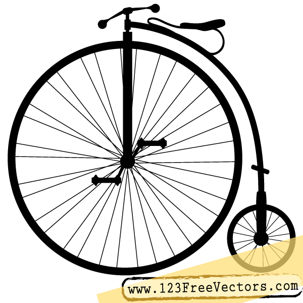 High-wheel bicycle clipart - Clipground