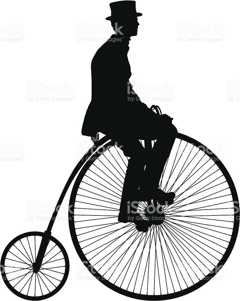 High Wheel Bicycle stock vector art 184628347.