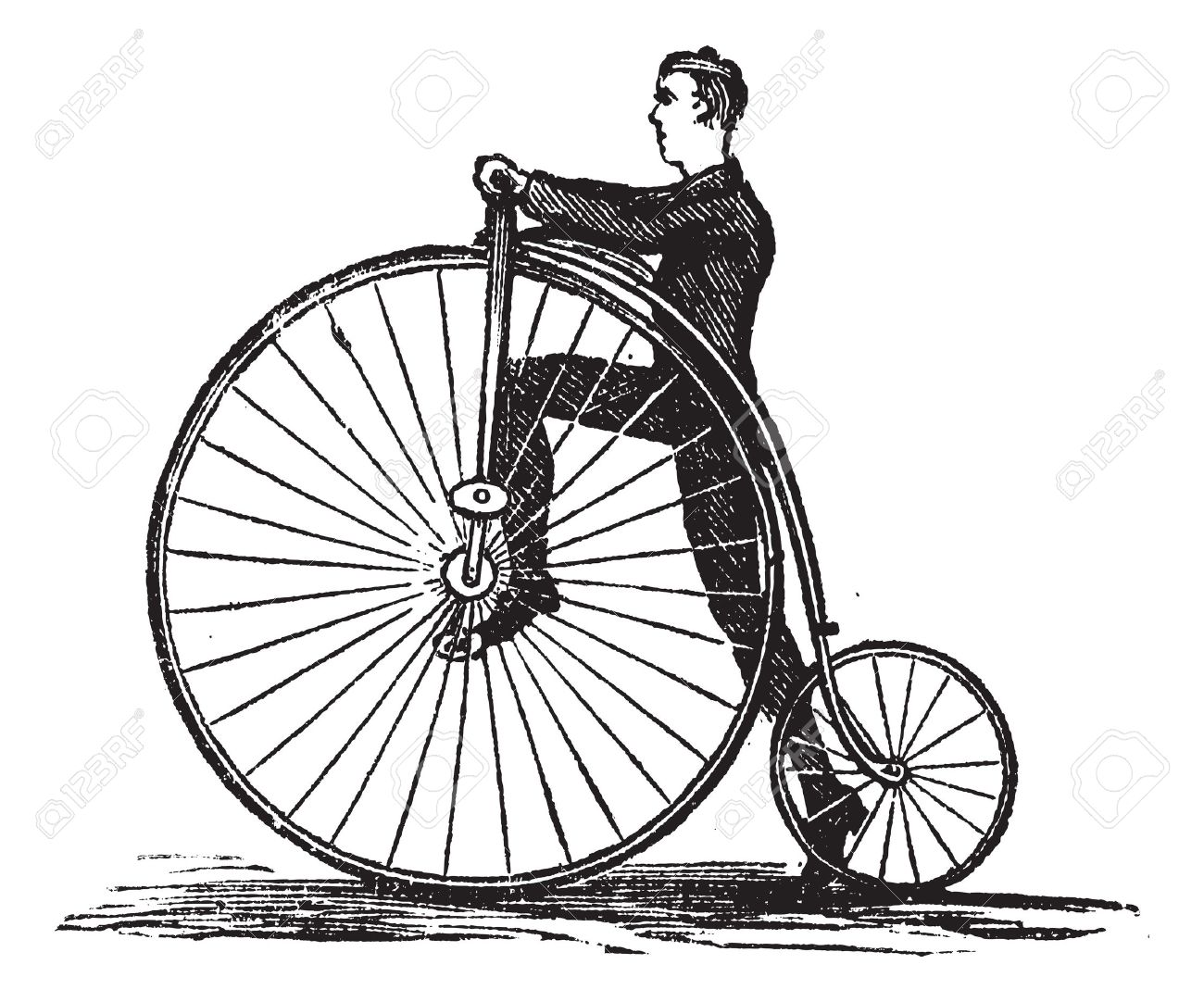 High Wheel Bicycle Clipart Clipground