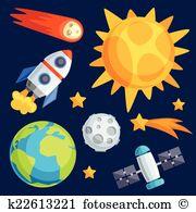 Himmelskörper Clip Art Vektor Grafiken. 723 himmelskörper EPS.