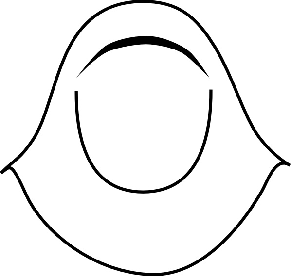 Islamic Women Clothing Hijab clip art Free vector in Open office.