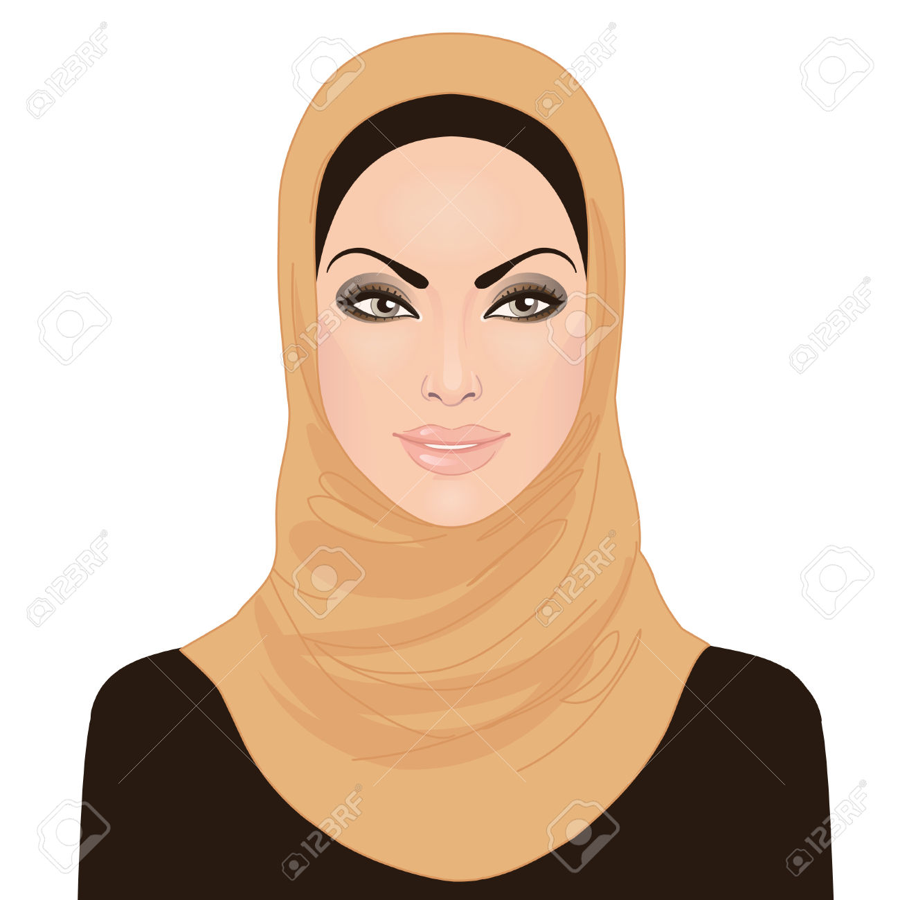 women cartoons Muslim