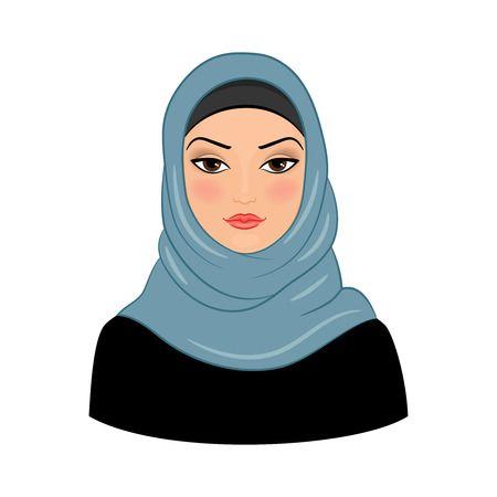 Hijab Woman Clipart.