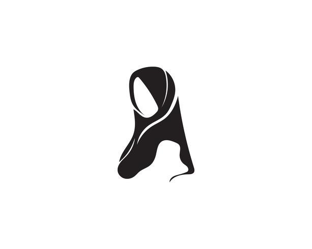 hijab vector black symbol.