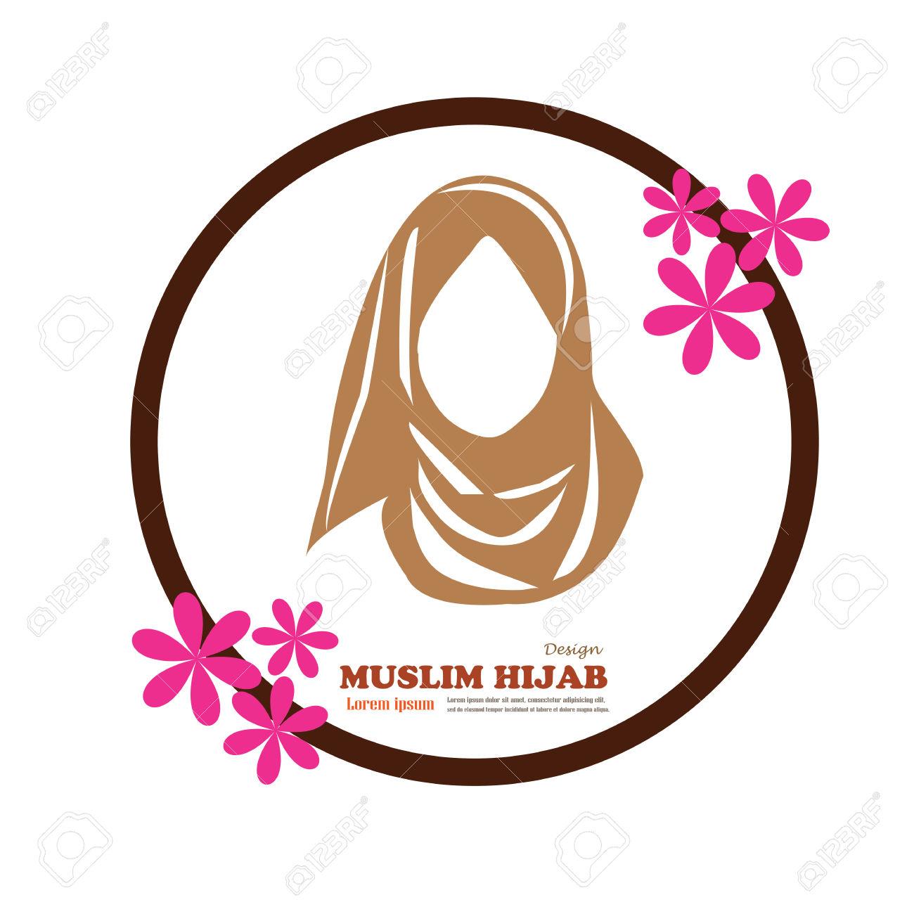 Muslim Hijab Clipart.