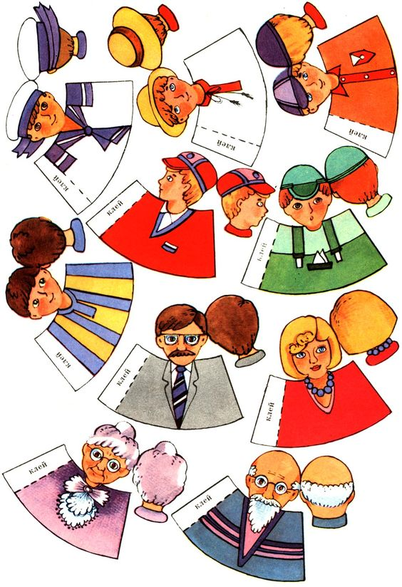 vingerpopjes familie, free printable *** Paper dolls for Pinterest.
