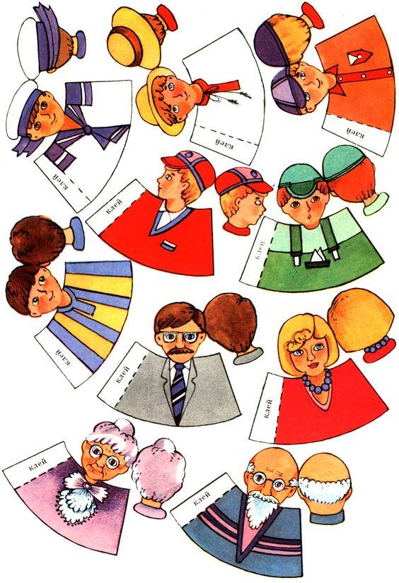 vingerpopjes familie, free printable *** Paper dolls for Pinterest.