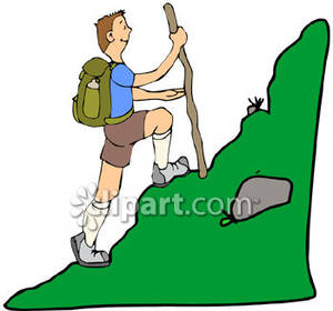 Hiking images clip art.