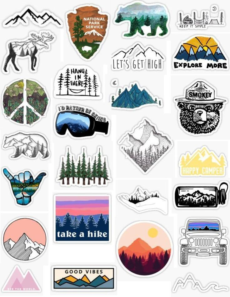 Mountain stickers.