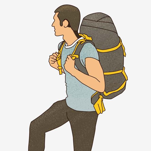 Hiker Png, Vector, PSD, and Clipart With Transparent Background for.
