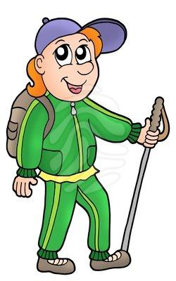 Hiker Animated Clipart.