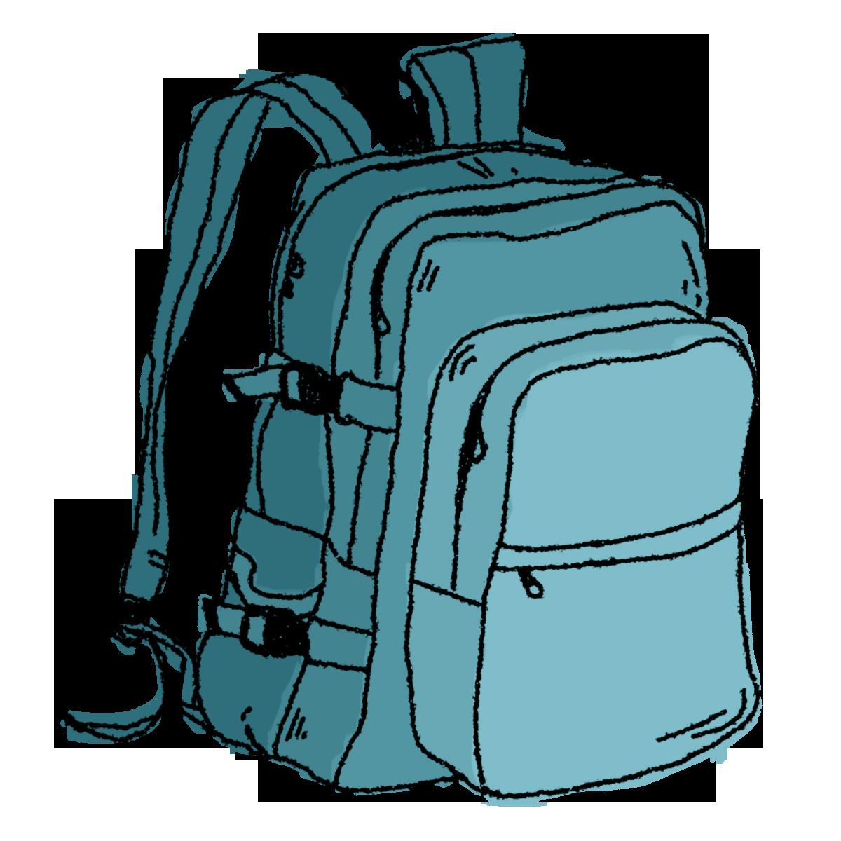 Hiking Backpack Clip Art Free.