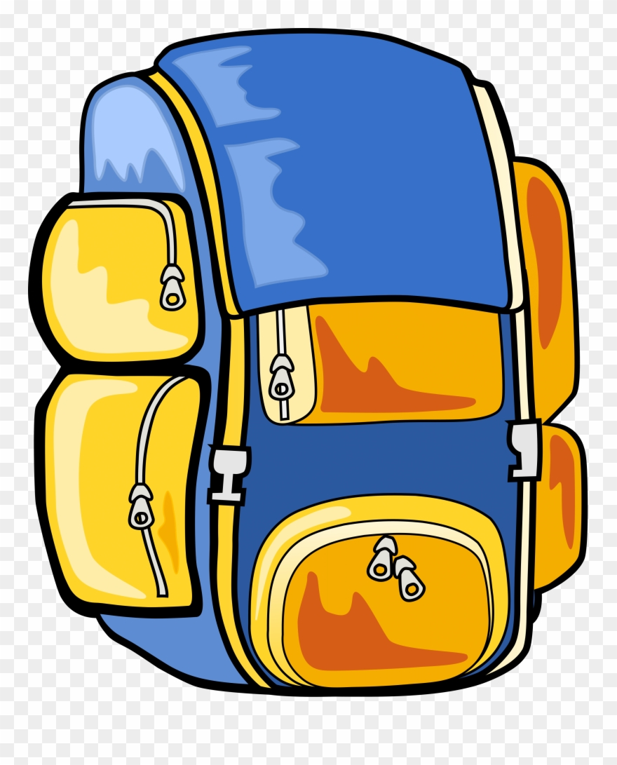 Hiking Backpack Clipart.