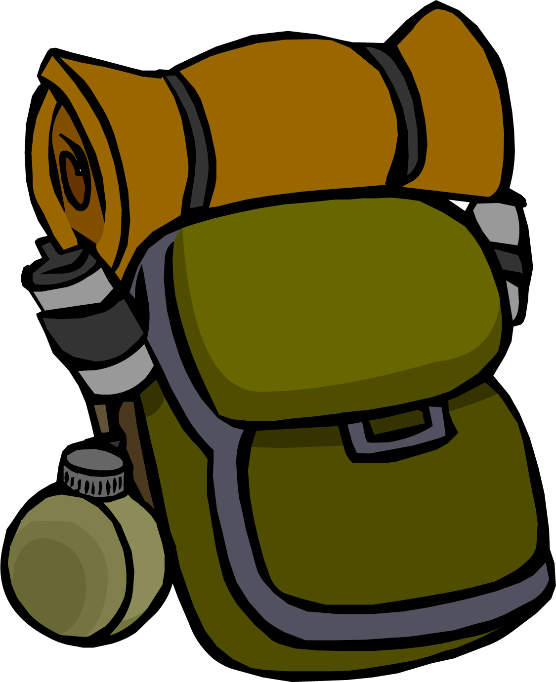 Camping Backpack Clipart.